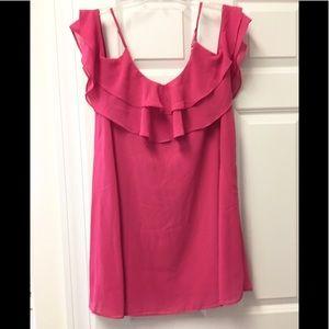 Gorgeous Lulu's pink ruffle mini dress